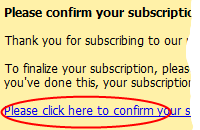 Double Opt-In Confirmation